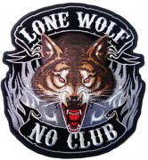 This is the newer version of the lone wolf no club patch by Good Sports. Again one of my better selling patches