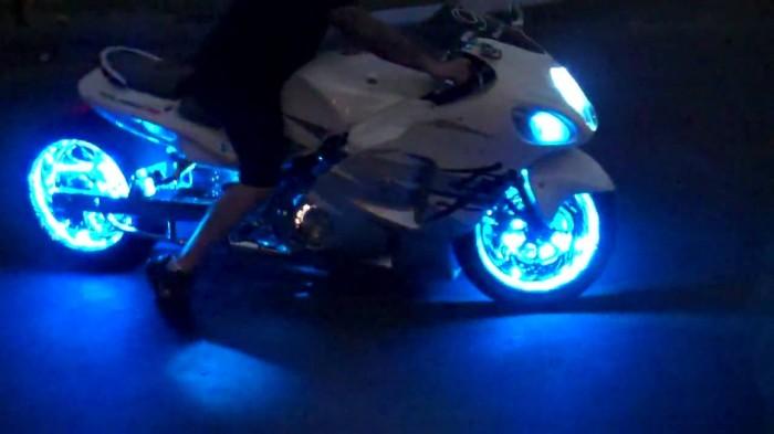 motorcycle led lights. Black Bedroom Furniture Sets. Home Design Ideas