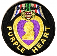 Gulf War Purple Heart Patch | Embroidered Patches