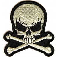 Skull and Bones Small Patch | Embroidered Patchese