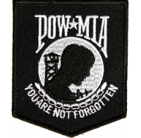 POW MIA Patch Black White | Embroidered Patches
