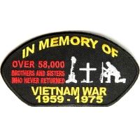 In Memory of Vietnam Cap Patch | Embroidered Patches
