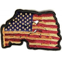 Vintage American Flag Patch | US Military Veteran Patches