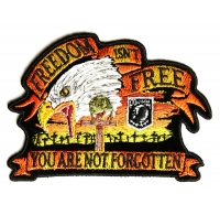 Freedom Isn't Free Eagle Small Patch | US Military Veteran Patches