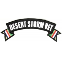 Desert Storm Rocker Patch With Flags | US Military Veteran Patches