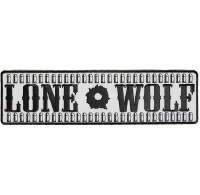 Reflective Lone Wolf Patch | Embroidered Patches