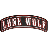 Large Lone Wolf Rocker Patch | Embroidered Patches