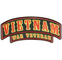 Vietnam War Veteran Rocker Large | US Military Vietnam Veteran Patches