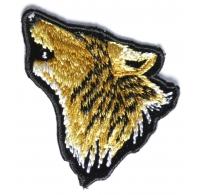 Mini Wolf Head Patch