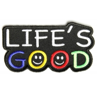 Life's Good Patch | Embroidered Patches