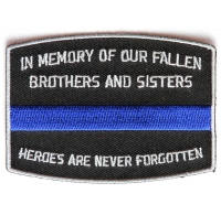 Fallen Officer Memorial Patch | Embroidered Patches