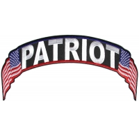 Patriot US Flag Rocker Patch | Embroidered Patches