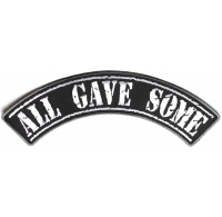 All Gave Some Large Rocker Patch | US POW MIA Military Veteran Patches