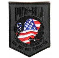 American Flag POW MIA Patch | US POW MIA Military Veteran Patches