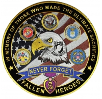 In Memory Of Our Fallen Heroes Large Patch | Embroidered Patches