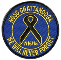 CHATTANOOGA We Will Never Forget Patch   US Navy Military Veteran Patches