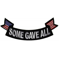 Some Gave All Lower Rocker Patch with US Flag Tips