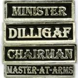Motorcycle club officers pins