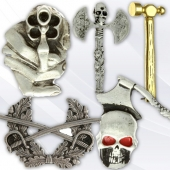 Tools and weapons pins for bikers