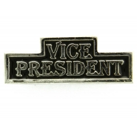 Vice President Pin Silver Plated