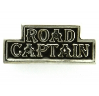 Road Captain Pin Silver Plated