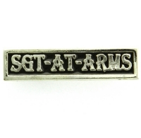 Sgt at arms Pin Silver Plated