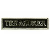 Treasurer Pin Silver Plated