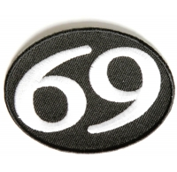 69 Patch Oval | Embroidered Patches