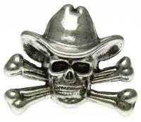 Skull cross bone cowboy Pin