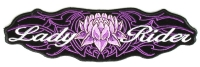 Lady Rider Purple Tribal Design Patch Large | Embroidered Biker Patches