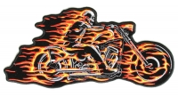 Ghost Rider Skeleton Motorcycle Patch | Embroidered Patches