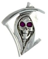 Reaper skull pin
