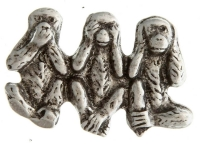 See hear speak nothing monkeys pin
