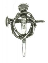 Thorny Halo Nail Cross Pin