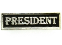 President Pin Silver Plated
