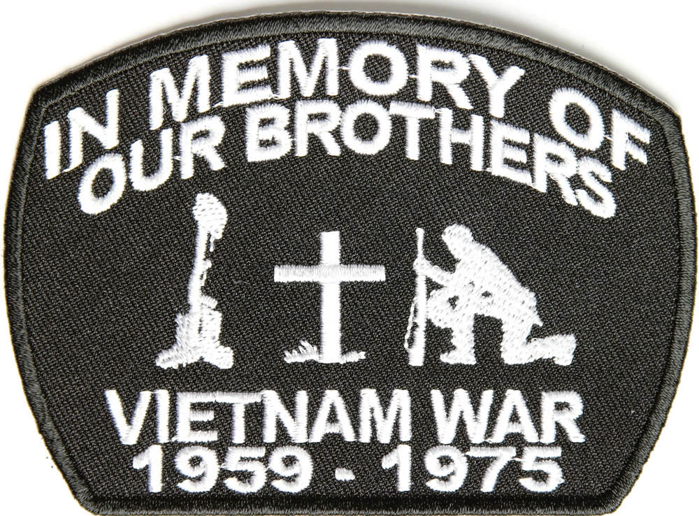 Proudly Served Vietnam Veteran Black Patch |Vietnam Veteran Patches And Badges