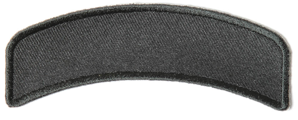 Black inch arched blank patch rocker embroidered patches