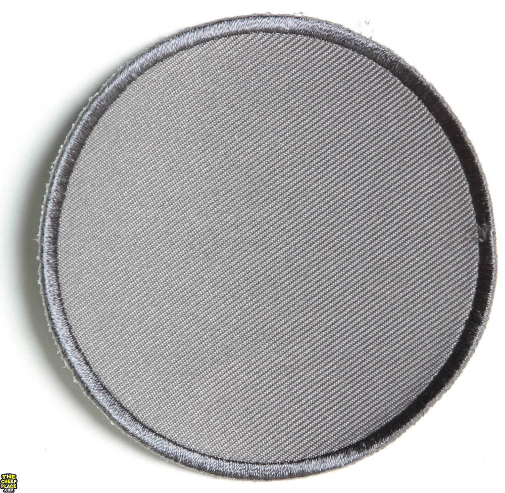 Gray 3 Inch Round Blank Patch | Embroidered Patches