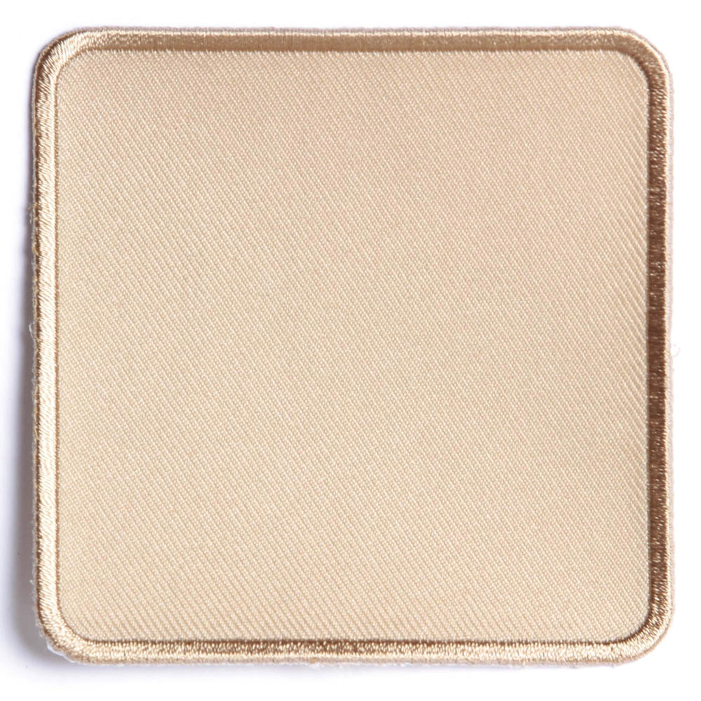 Tan inch square blank patch embroidered patches