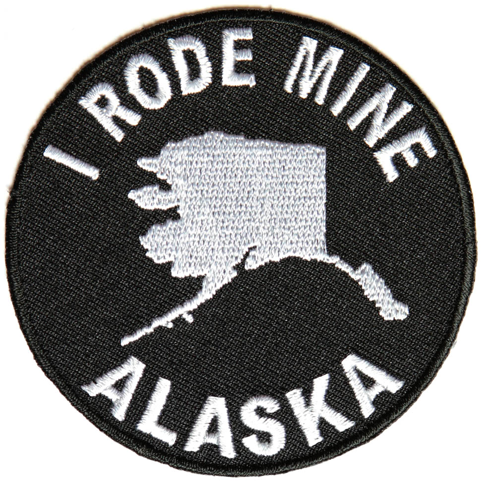 i rode mine to alaska biker patch state biker embroidered patches. Black Bedroom Furniture Sets. Home Design Ideas