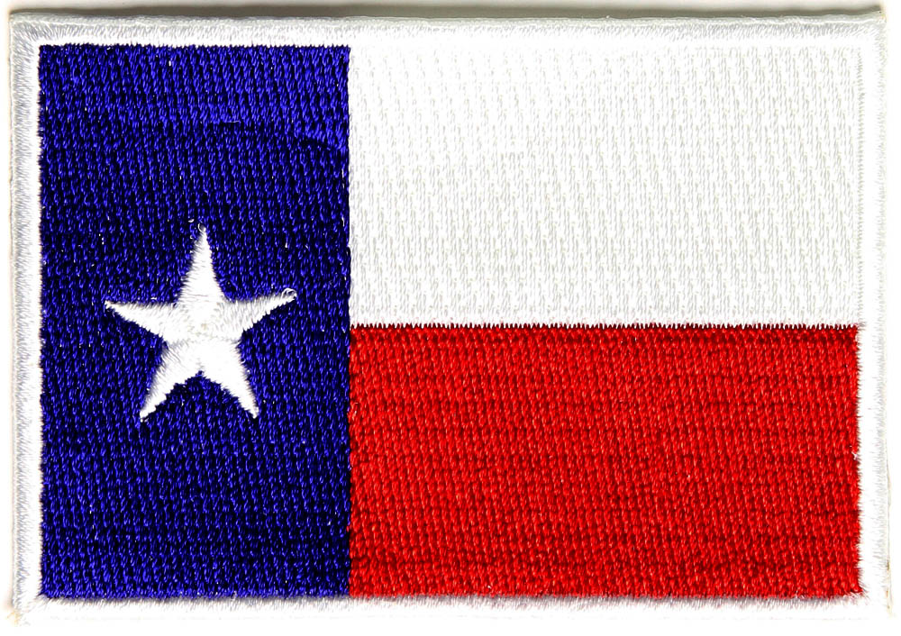 Texas flag back patch