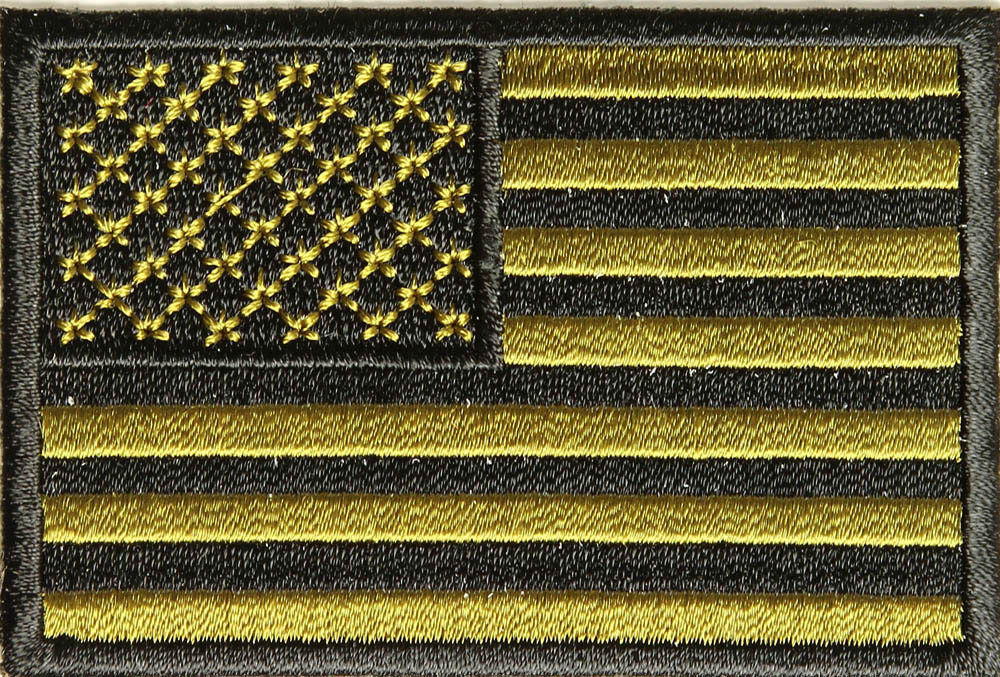 Subdued Green Us Flag Patch