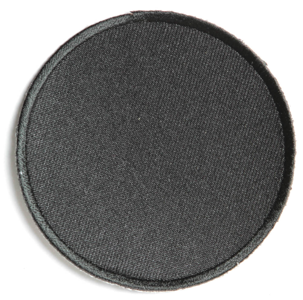 Black inch round blank patch