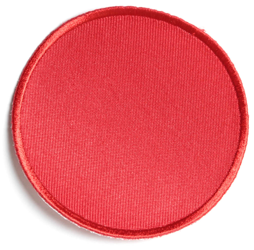 Red inch round blank patch