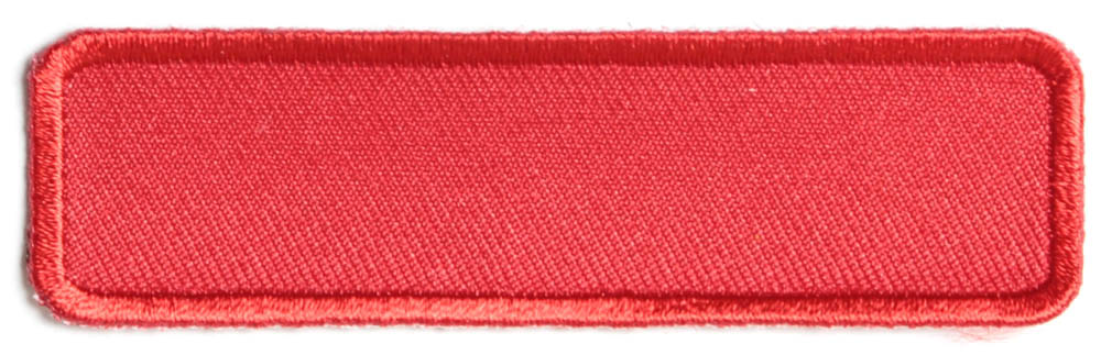 Red name tag blank patch