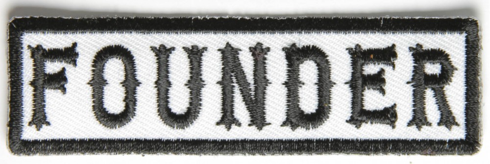 Motorcycle Jacket Embroidered Patch Position Status Member Rank President