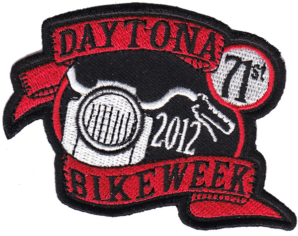 Daytona Bike Week 2012 Patch - Black and red