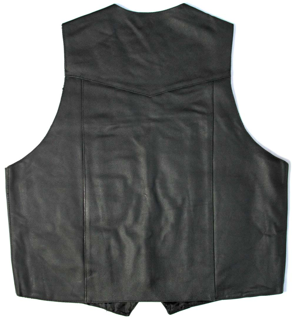 Men 39 S Black Leather Vest Leather Thecheapplace