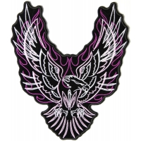 Eagle Upwing Purple Flames Patch | Embroidered Patches