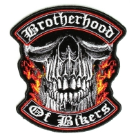 Small Brotherhood Of Bikers Vest Patch | Embroidered Patches